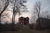Lost city. Near Chernobyl area. Kiev region,Ukraine. Abandoned cottage construction site