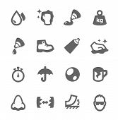 image of nose drops  - Simple set of glue related vector icons for your design - JPG