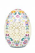 Porcelain easter egg isolated on white