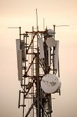 top part of the cellular or mobile phone communication tower