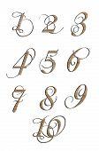 foto of arabic numerals  - High quality  Luxurious Numerals - JPG