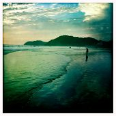 Instagram style sunset Playa de Herradura Costa Rica