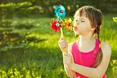 girl with pinwheel