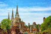 Wat Phra Si Sanphet Temple. Thailand, Phra Nakhon Si Ayutthaya Province