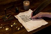 Man Writes Mystery To Success On Parchment