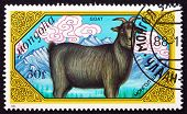 Postage Stamp Mongolia 1989 Goat, Farm Animal