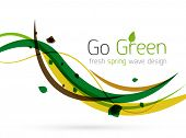 Colorful spring lines conceptual nature design