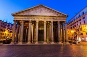 italy, rome, pantheon. night scene
