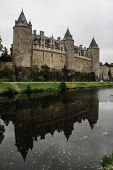 foto of chateau  - The Chateau of Josselin in Brittany - JPG
