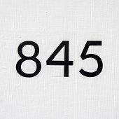 Number 845