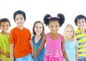 stock photo of pre-adolescents  - Group of Children - JPG