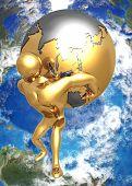 3D Globe Concept Atlas Earth