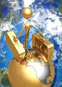 3D Globe Concept World Travel