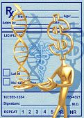 3D Medical Concept Dollar Presenting DNA