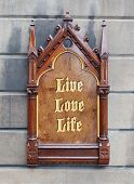 Decorative Wooden Sign - Live Love Life