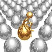 Sitting On A Unique Gold Nest Egg