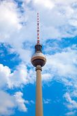 The Tv Tower Located On The Alexanderplatz In Berlin, Germany