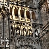 Facade Detail Of The Cathedral Of Santa Maria, Toledo (spain)