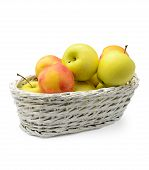 Apples And Nectarines In A Basket