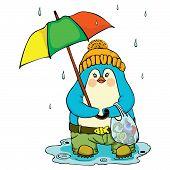 Penguin With An Umbrella