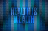 Health Is Wealth Illustration Design