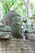 Old Buddha Statue In Umong Temple (wat Umong), Chiangmai Thailand