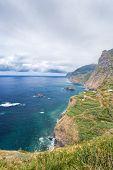 Coastal cliffs of Madeira's rocky North Coast