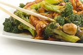 image of sauteed  - Savory sauteed mixed chinese vegetables with crispy fried tofu