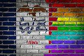 Dark Brick Wall - Lgbt Rights - Iowa