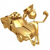 Golden Grad Pickup Truck Graduation Gift