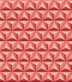 foto of triangular pyramids  - Abstract pattern of red - JPG