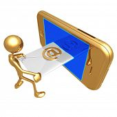 Sending Receiving E-Mail On A Touch Screen Cellphone