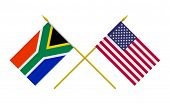 Flags, South Africa And Usa