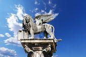 Winged St Mark Lion In Verona - Italy
