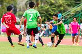 Sisaket Thailand-september 17: Unidentified Player Of Sisaket Utd. In Action During Unofficial Frien