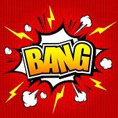 Bang! Comic Speech Bubble, Cartoon. 11.eps