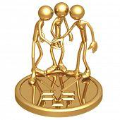 Teamwork Golden Yen Coin