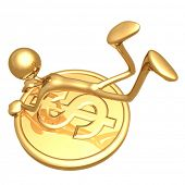 Hanging On To A Gold Dollar Coin