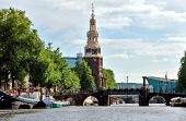 Amsterdam - Canal And Western Church
