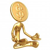 Financial Guru Gold Dollar Coin