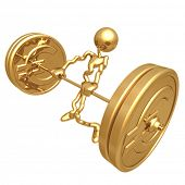 Weight Lifting Gold Coins