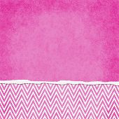 Square Pink And White Zigzag Chevron Torn Grunge Textured Background