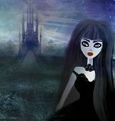 Beautiful Witch And Hounted House