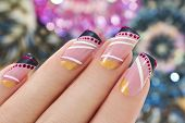 Elegant nail design.