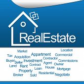Real Estate Blue Square