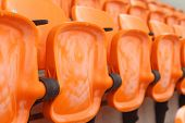 pic of grandstand  - Seat of grandstand in an empty stadium - JPG