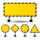 Empty Construction Sign