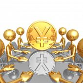 Gold Yen Coin Meeting
