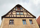 Facade Of Medieval House,  Rothenburg Ob Der Tauber, Germany
