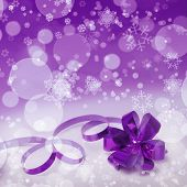 Purple Christmas Gift Background